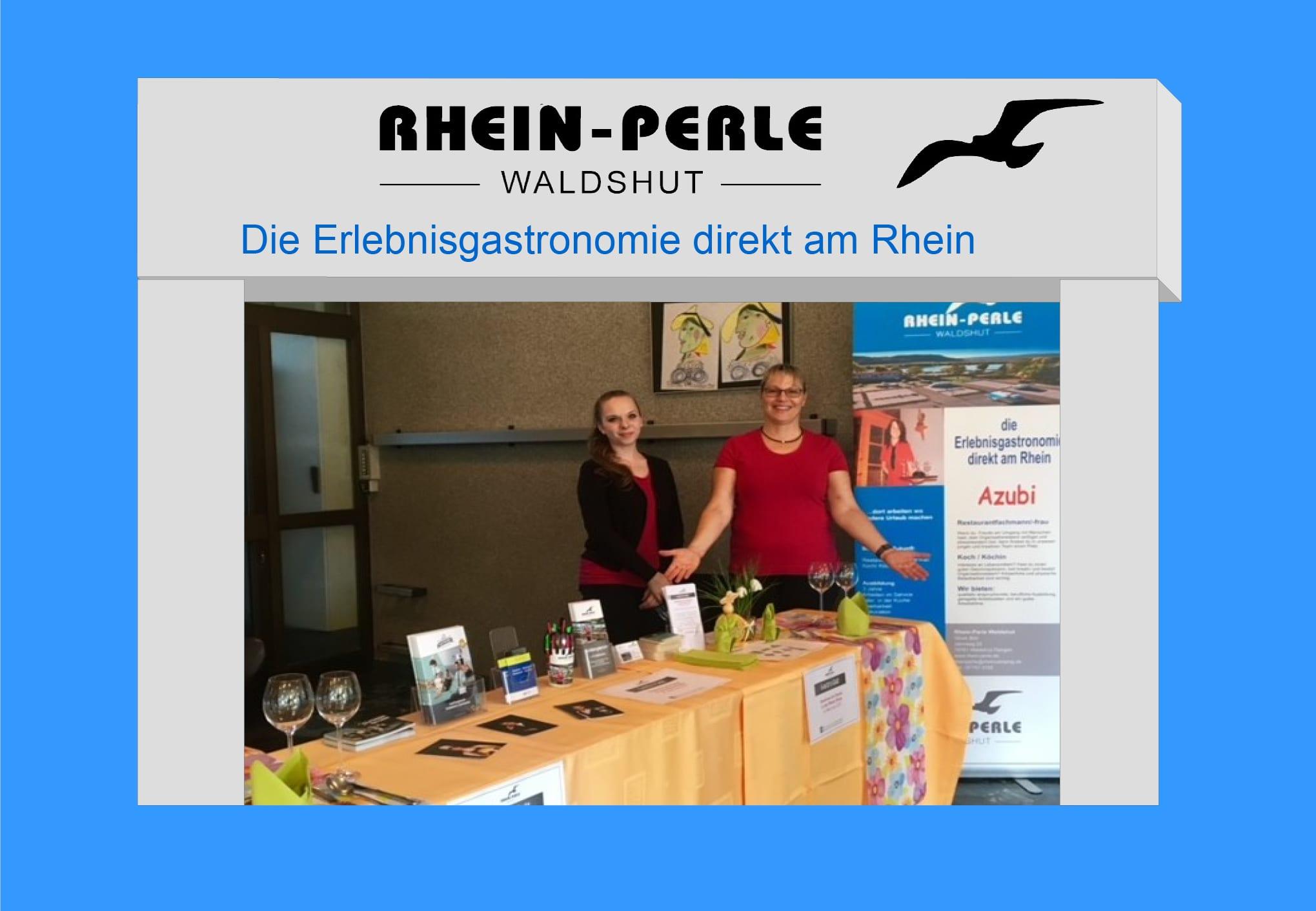 Ausbildungsbörse Lauchringen Messestand Rhein-Perle