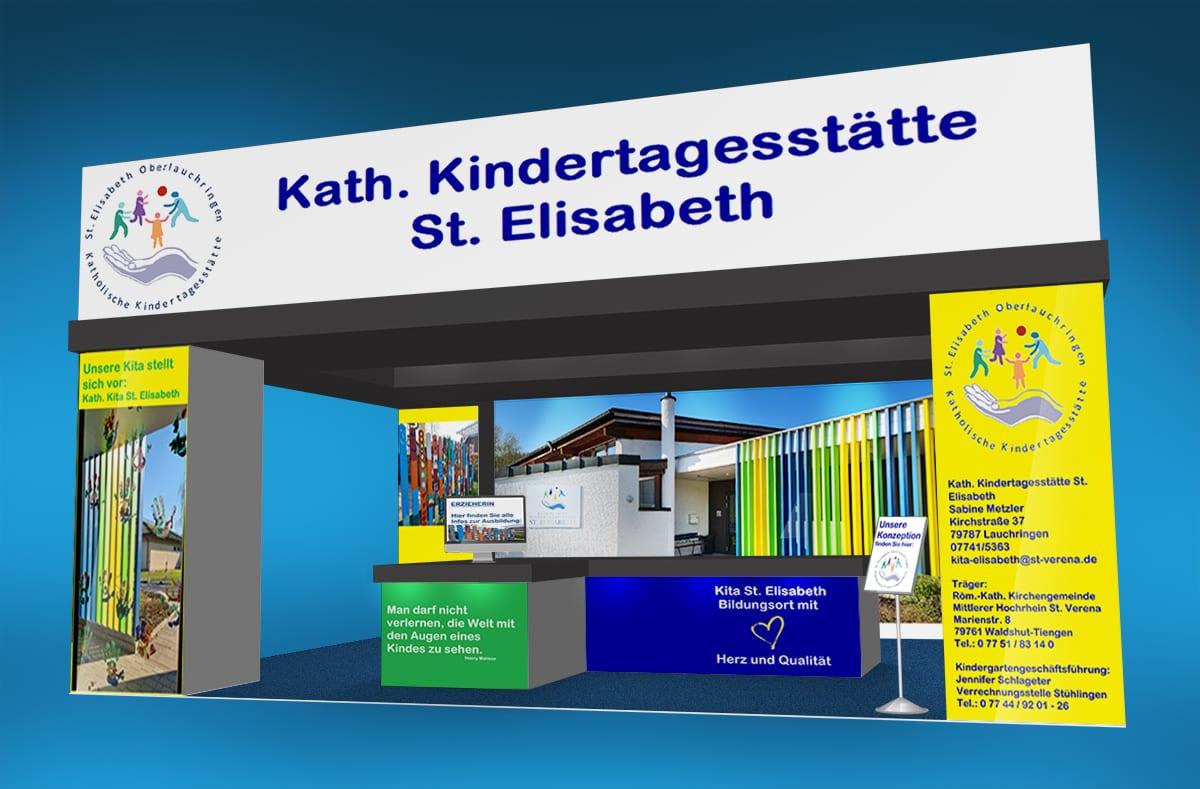 Kath. Kita St. Elisabeth Ausbildungsbörse Lauchringen Messestand 1.1