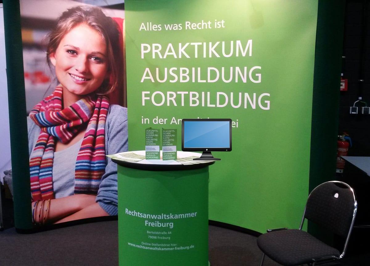 Rechtsanwaltskammer Freiburg Messestand Ausbildungsbörse Lauchringen 1